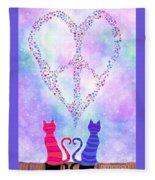 Two Of Hearts Fleece Blanket