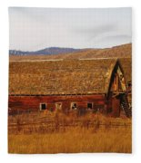 Two Old Barns Near Thorp  Wa Fleece Blanket
