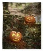 Two Pumpkins Fleece Blanket