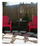 Two Red Chairs Fleece Blanket