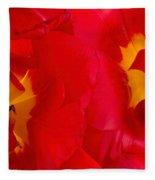 Two Red Tulips Fleece Blanket