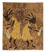 Two Sax Players Fleece Blanket