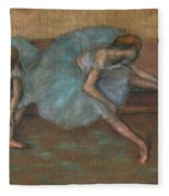 Two Seated Dancers Fleece Blanket