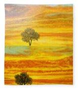 Two Sunsets In Limassol Fleece Blanket