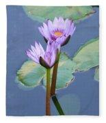 Two Tall Water Lilies Fleece Blanket