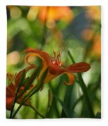 Two Tiger Lillies...   # Fleece Blanket