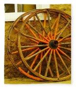 Two Wagon Wheels Fleece Blanket