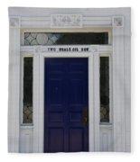Two Whale Oil Row - Blue Door - New London Fleece Blanket