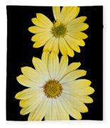 Two Yellow Fleece Blanket