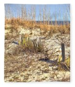 Tybee Island Dunes Fleece Blanket