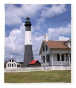 Tybee Island Light Fleece Blanket