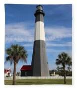 Tybee Island Lighthouse Fleece Blanket