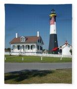 Tybee Island Lighthouse Ga Fleece Blanket