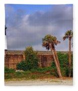 Tybee Island Lighthouse Fleece Blanket