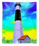 Tybee Island Lighthouse - Photopower Fleece Blanket