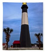Tybee Light And Palms Fleece Blanket