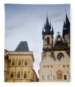 Tyn Church In Prague Fleece Blanket