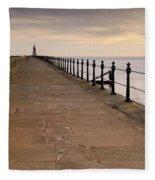 Tynemouth North Pier Fleece Blanket