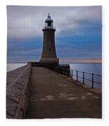 Tynemouth Pier Lighthouse Fleece Blanket