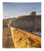 Tynemouth Priory And Castle From North Pier Fleece Blanket