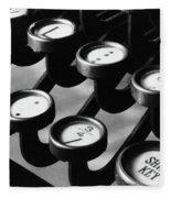 Typewriter Keys, 1921 Fleece Blanket