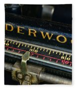 Typewriter Paper Guide Fleece Blanket