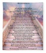 Typography Art Desiderata Poem On Stairway To Heaven Fleece Blanket