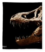 Tyrannosaurus Rex Skull 4 Fleece Blanket