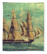 U S S Constitution 1803-1804 Fleece Blanket