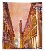 Uffizi- Florence Fleece Blanket