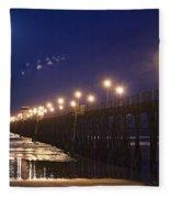 Ufo's Over Oceanside Pier Fleece Blanket