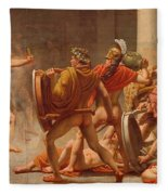 Ulysses Revenge On Penelopes Suitors Fleece Blanket