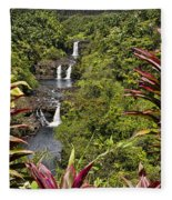 Umauma Falls Fleece Blanket