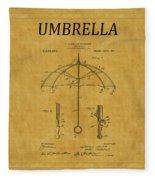 Umbrella Patent 1 Fleece Blanket