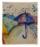 Umbrellas Fleece Blanket