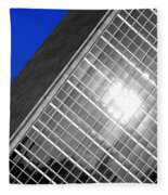 Un Building Tilted Fleece Blanket
