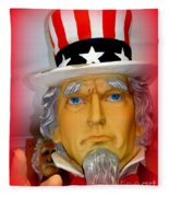 Uncle Sam Wants You Fleece Blanket