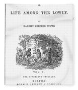 Uncle Tom's Cabin, 1852 Fleece Blanket