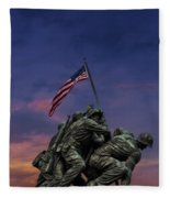 Uncommon Valor Was A Common Virtue Fleece Blanket