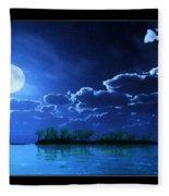 Under A Silvery Moon...artistic Effect Fleece Blanket