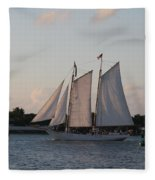 Under Full Sail Fleece Blanket