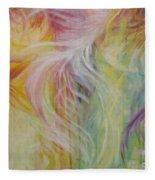 Under His Wings Fleece Blanket