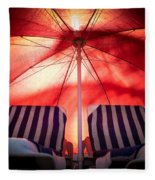 Under My Umbrella Fleece Blanket