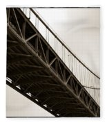 Under The Bay Bridge Fleece Blanket