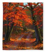 Under The Blazing Canopy Fleece Blanket