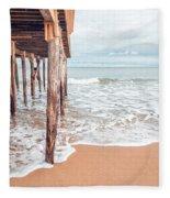 Under The Boardwalk Salsibury Beach Fleece Blanket