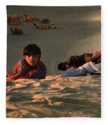 Under The Desert Sky.. Fleece Blanket