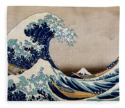 Under The Great Wave Off Kanagawa Fleece Blanket