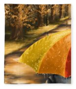 Under The Rain Fleece Blanket