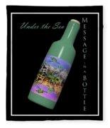 Under The Sea Message In A Bottle Fleece Blanket